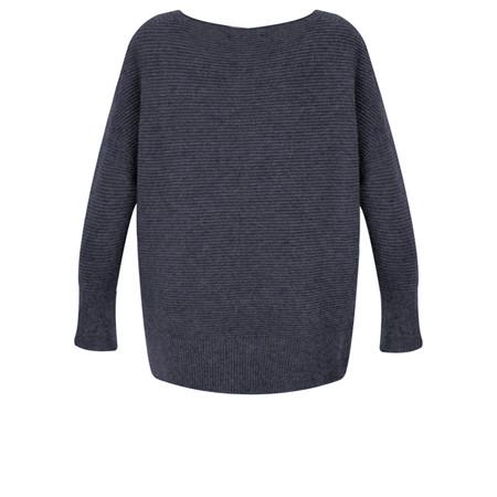 Fenella  Frenchie Easyfit Rib Knit Jumper - Blue