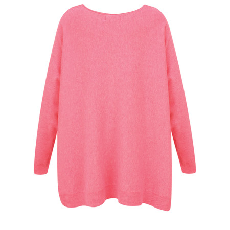 Fenella  Allie Oversized Soft Knit Jumper - Pink