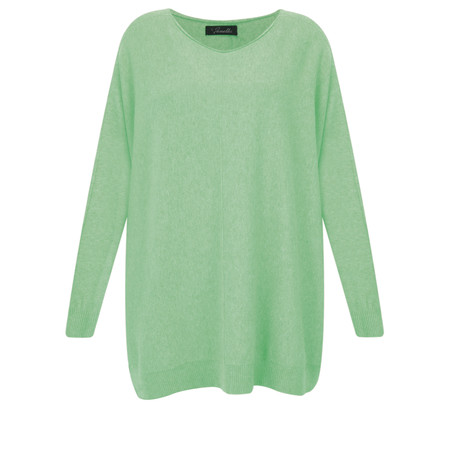 Fenella  Allie Oversized Soft Knit Jumper - Green