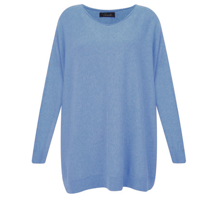 Fenella  Allie Oversized Soft Knit Jumper - Blue