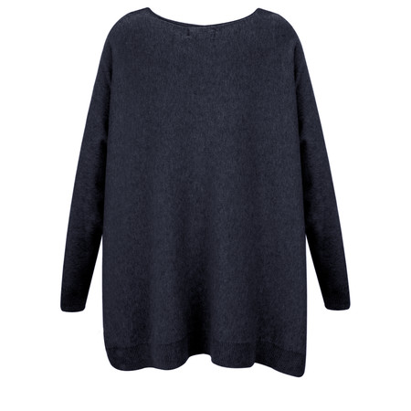Fenella  Allie Oversized Soft Knit Jumper - Blue