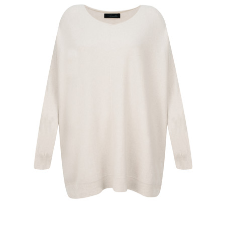 Fenella  Allie Oversized Soft Knit Jumper - Off-White