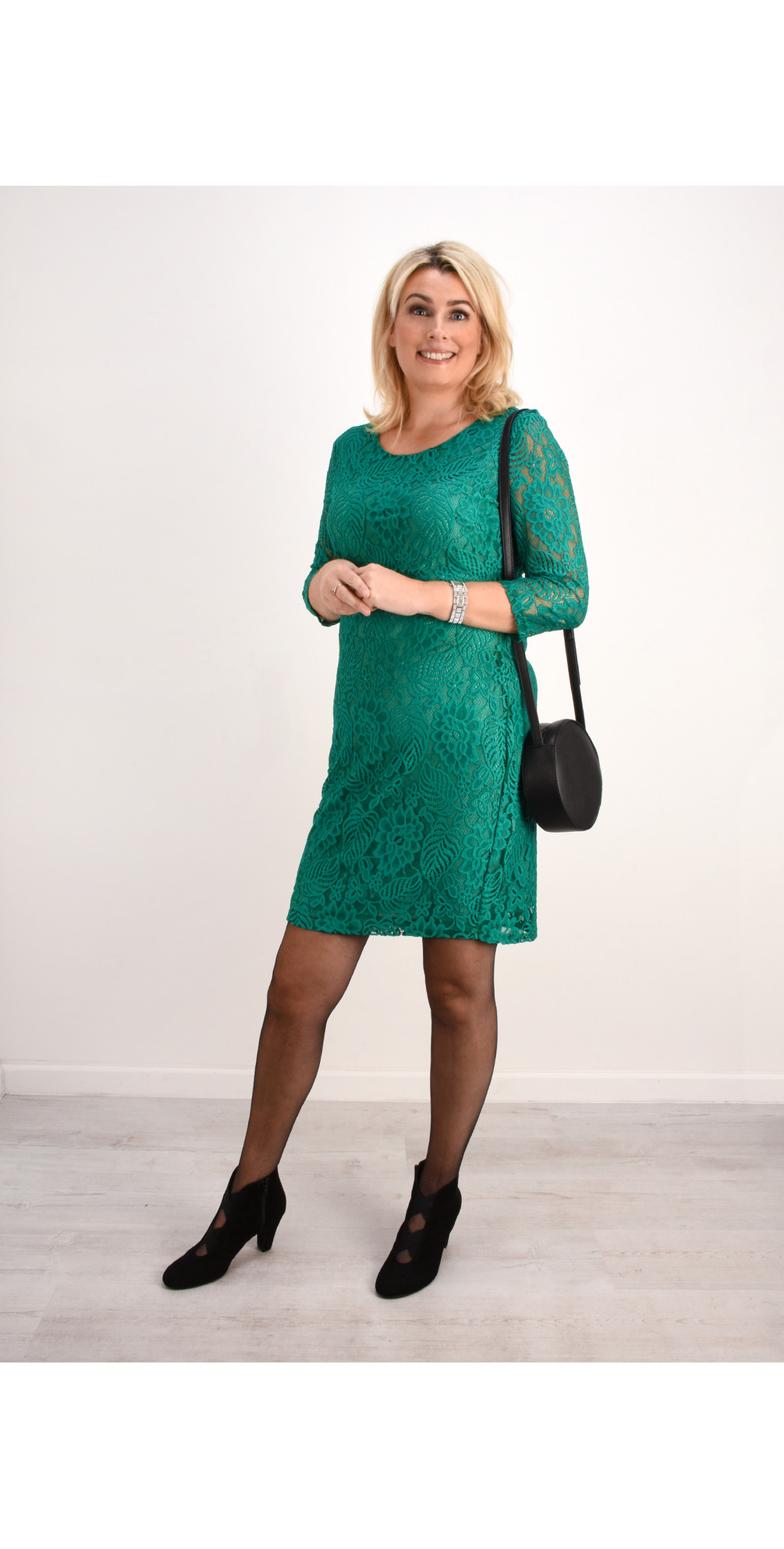 Lace Fitted Dress main image