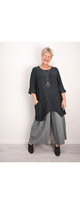 Grizas Petra Silk Crinkle Top Lead Grey