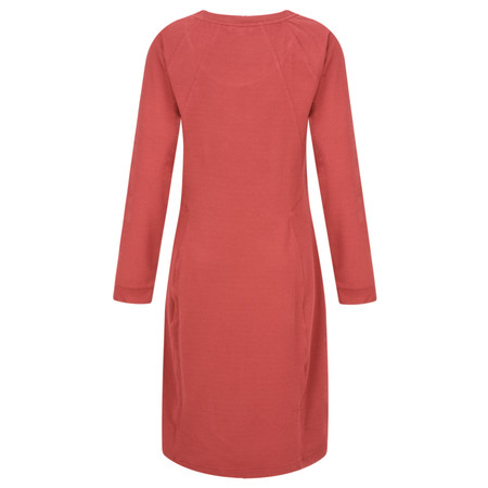 Sandwich Clothing Textured Dobby Dress  - Red
