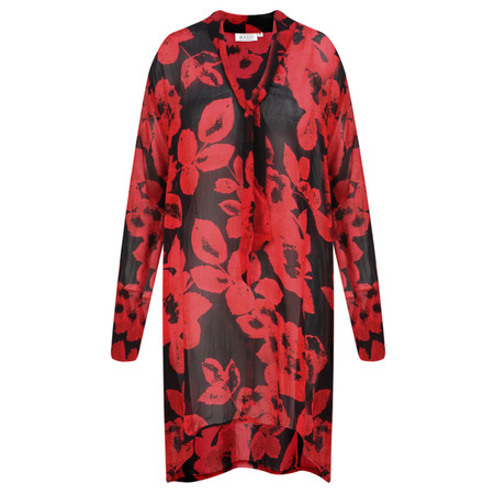 Masai Clothing Gynda Bold Floral Tunic - Red