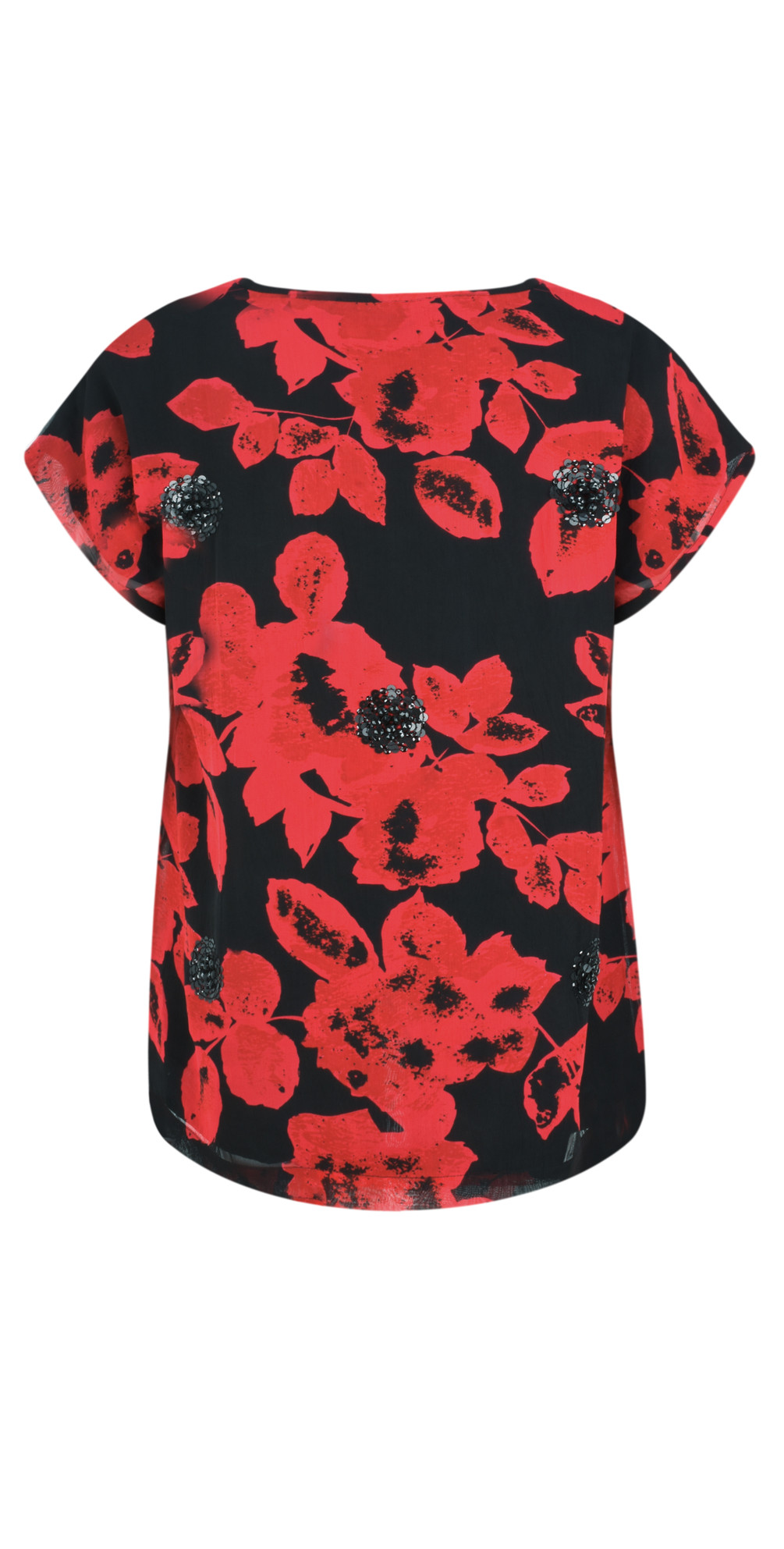 Enya Floral Print Sequin Top main image