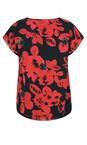 Masai Clothing Ruby Org Enya Floral Print Sequin Top