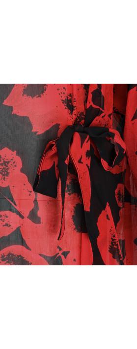 Masai Clothing Bulma Bold Floral Top Ruby Org