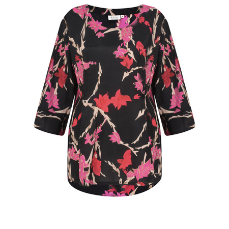 Masai Clothing Brina Floral Top - Pink