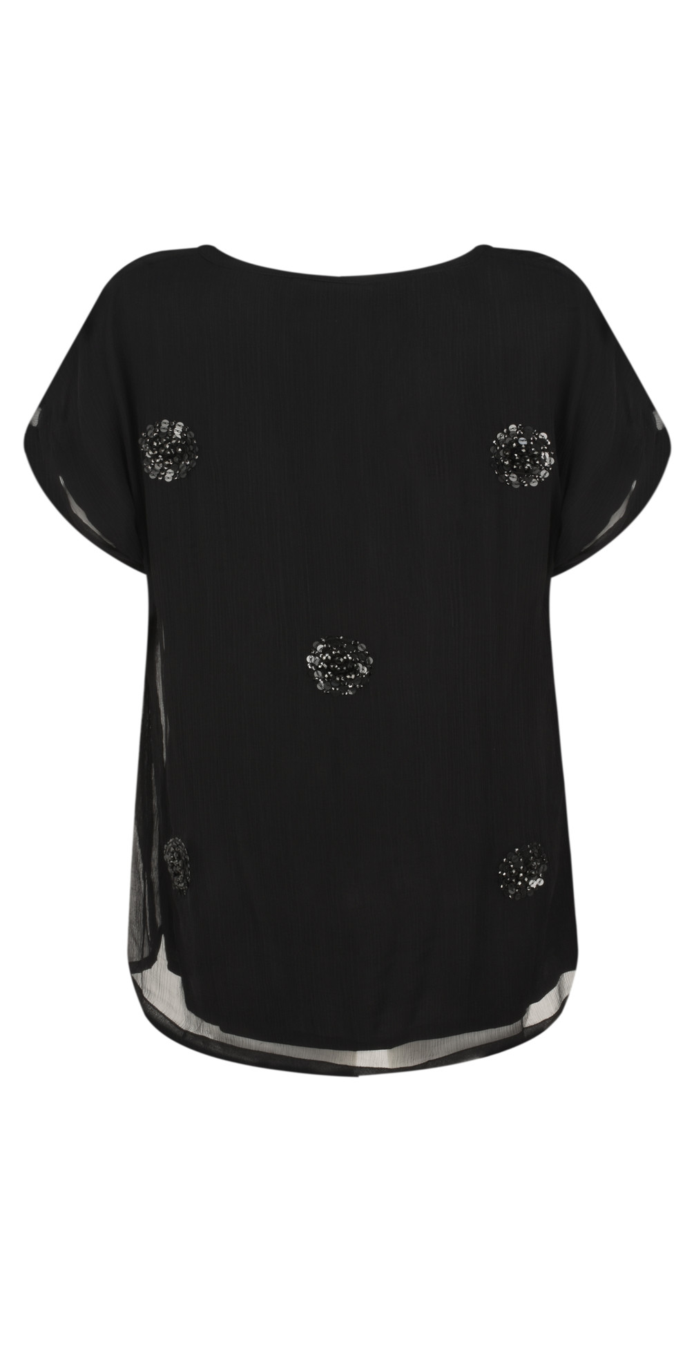Enya Sequin Circle Print Top main image