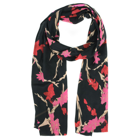 Masai Clothing Along Floral Scarf - Pink