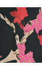 Masai Clothing Pink Org Along Floral Scarf