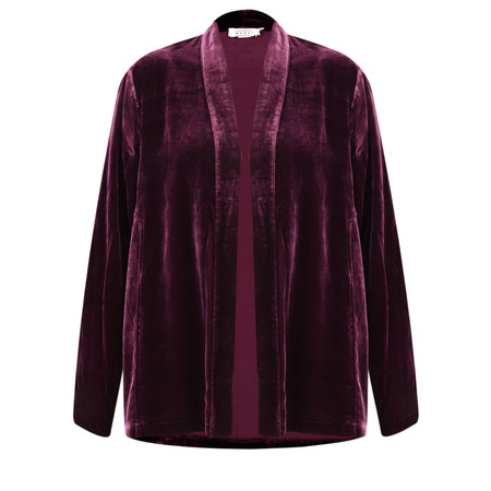 Masai Clothing Joella Velvet Jacket - Red