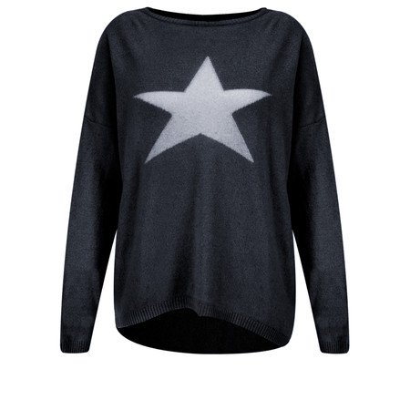 Luella Cashmere Blend Star Jumper - Blue