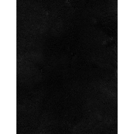 RINO AND PELLE Super Soft Faux Fur Scarf - Black