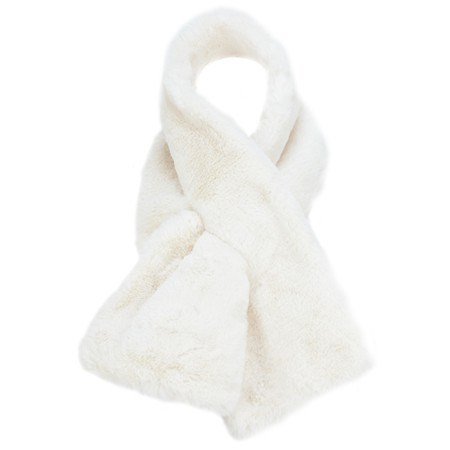 RINO AND PELLE Super Soft Faux Fur Scarf - White