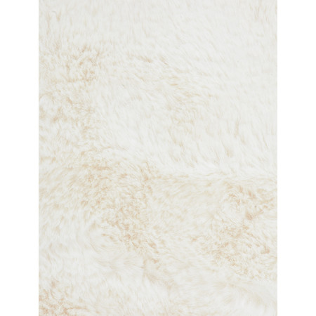RINO AND PELLE Stip Super Soft Faux Fur Scarf - White