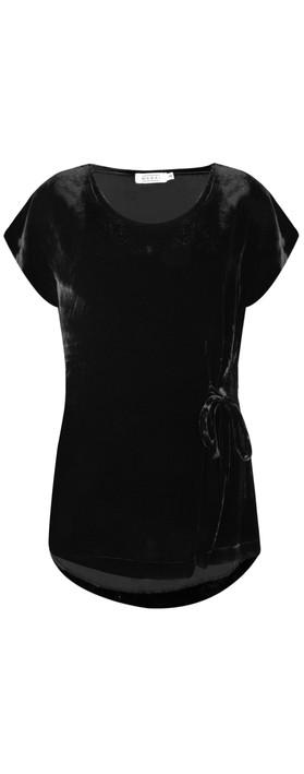 Masai Clothing Emely Velvet Top Black