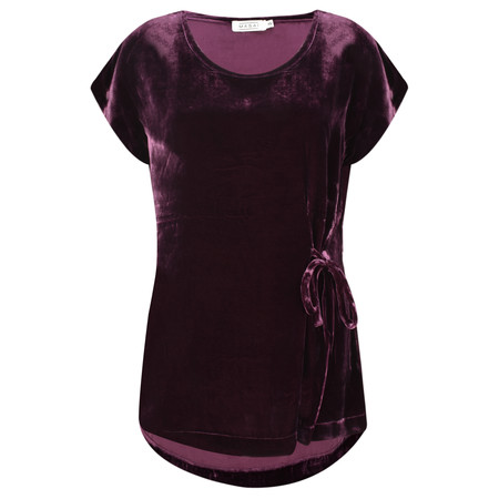 Masai Clothing Emely Velvet Top - Red