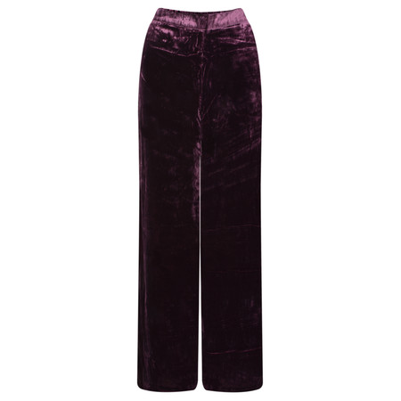Masai Clothing Perinus Velvet Trouser - Red