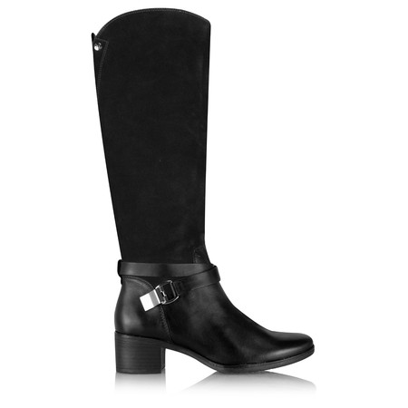 Caprice Footwear Minna Long Two Tone Boot - Black