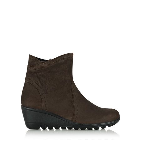 Gemini Label Susan Casual Wedge Ankle Boot - Brown
