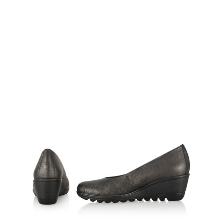 Gemini Label  Suave Casual Wedge Shoe - Black