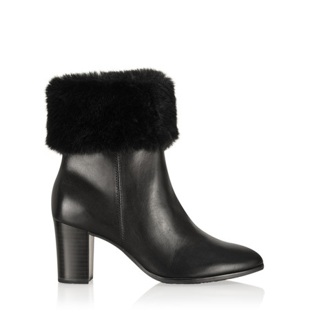 Caprice Footwear Joli Fur Trimmed Ankle Boot - Black