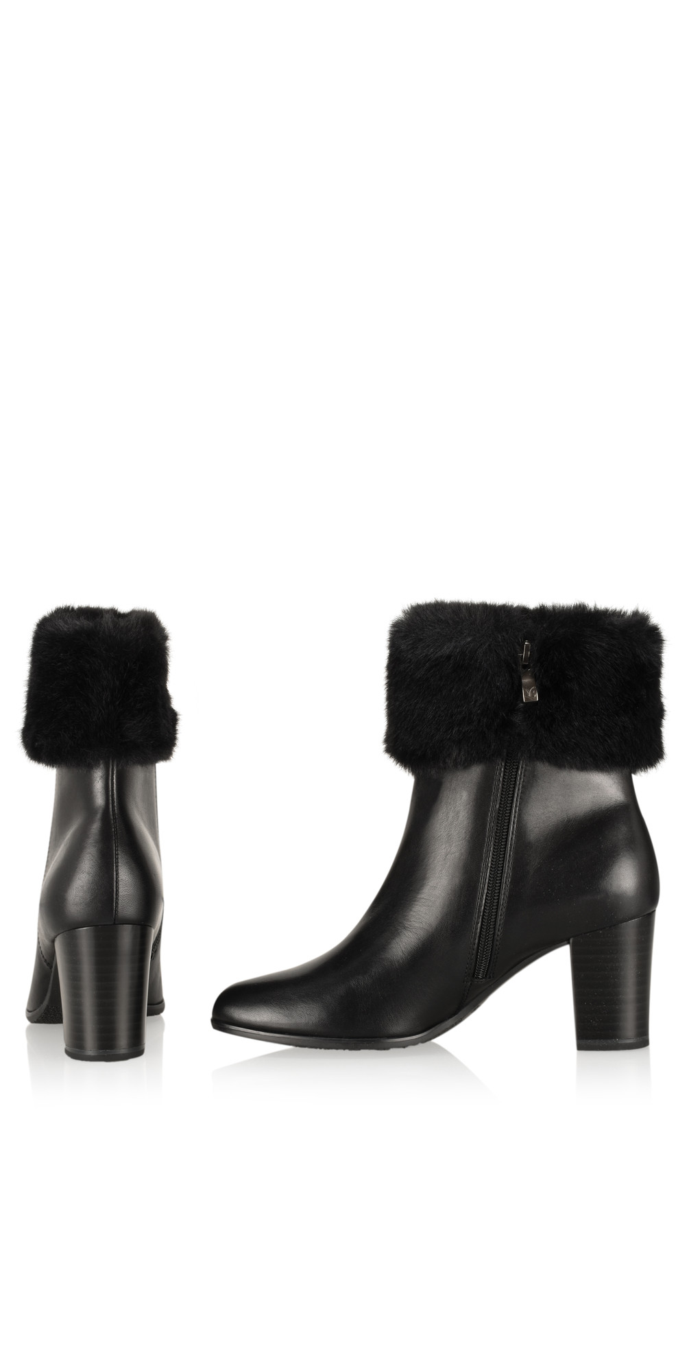 9d9c17927de Caprice Footwear Joli Fur Trimmed Ankle Boot in Black
