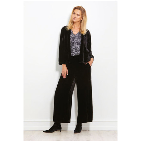 Masai Clothing Perinus Velvet Trouser - Black
