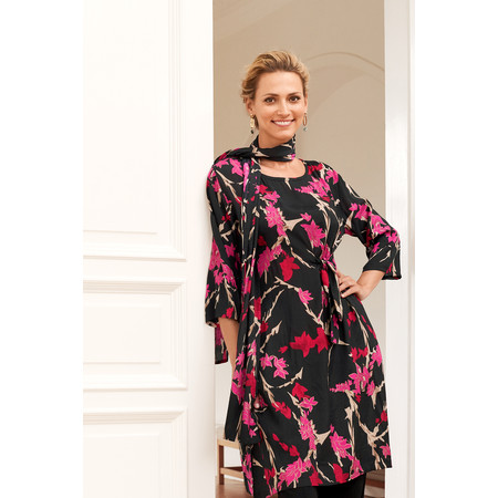 Masai Clothing Nonie Floral Dress - Pink