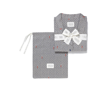 Yawn Port In A Storm Pyjama Gift Set - Blue