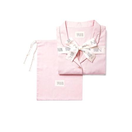Yawn Pink Chambray Pyjama Gift Set - Pink