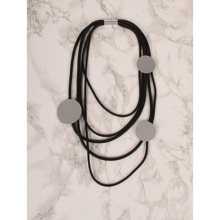 NOUV-ELLE Elivi Long Circle Necklace - Black