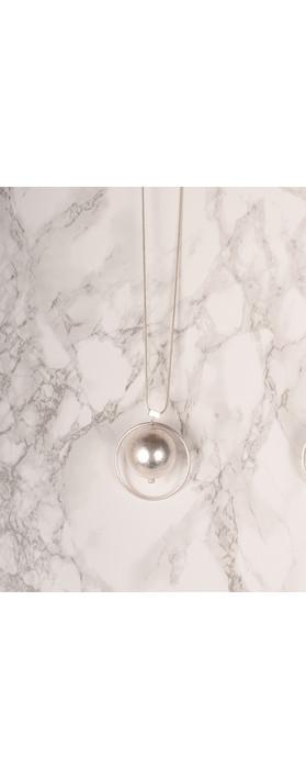 NOUV-ELLE Sorbi Long Orbit Necklace Silver
