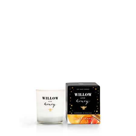 Willow and Honey Spiced Orange Mini Candle - Transparent