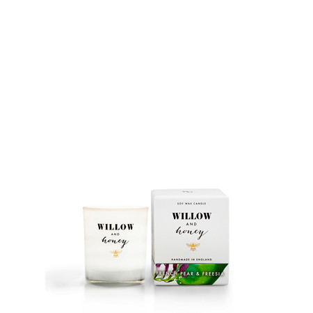 Willow and Honey French Pear And Freesia Mini Candle - Transparent