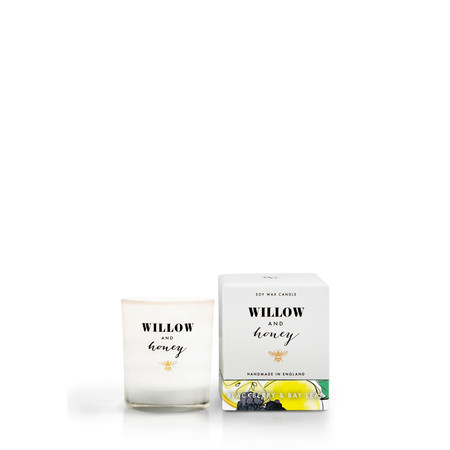 Willow and Honey Blackberry And Bay Leaf Mini Candle - Transparent