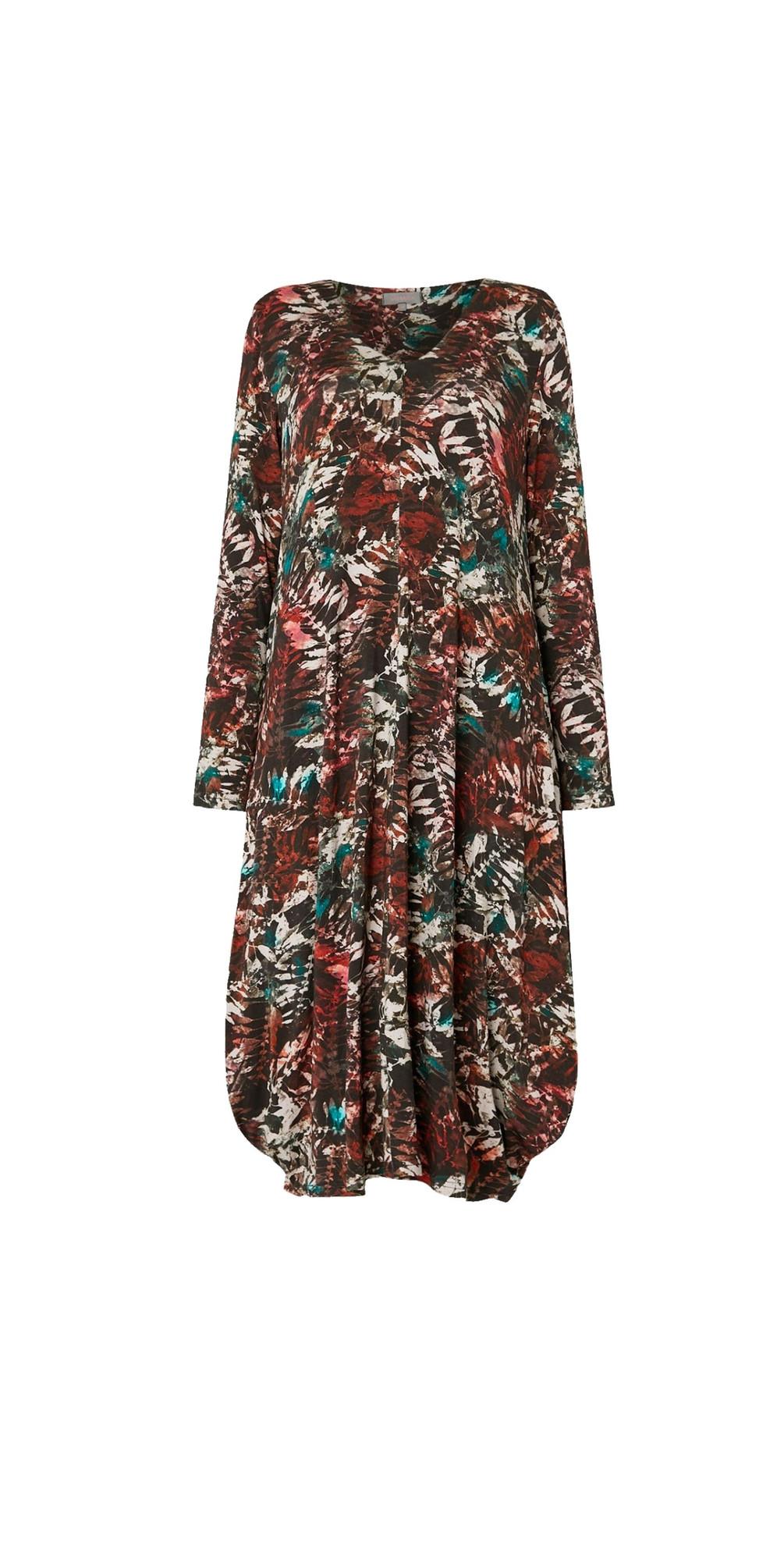 Leaf Print Jersey Dress main image