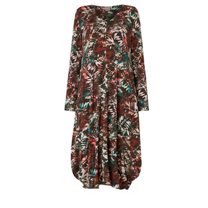 Sahara Leaf Print Jersey Dress