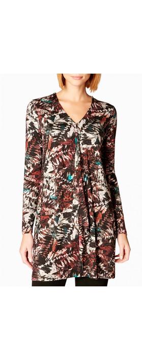 Sahara Leaf Print Jersey Tunic Multi