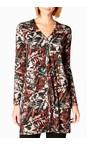 Sahara Multi Leaf Print Jersey Tunic