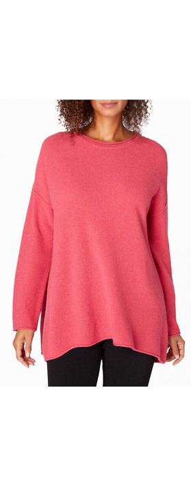 Sahara Honeycomb Knit Jumper Geranium