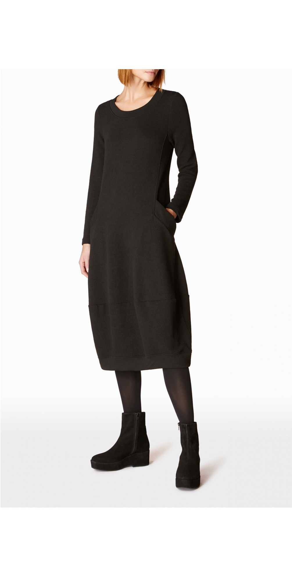 Textured Jersey Bubble Dress main image