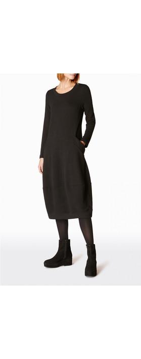 Sahara Textured Jersey Bubble Dress Black