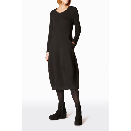 Sahara Textured Jersey Bubble Dress - Black