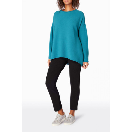 Sahara Honeycomb Knit Jumper - Blue