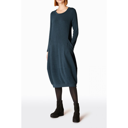Sahara Textured Jersey Bubble Dress - Blue