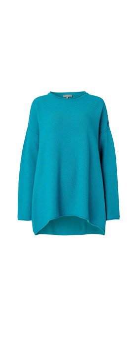 Sahara Honeycomb Knit Jumper Kingfisher